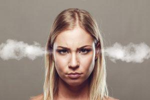 Angry woman needing CBT